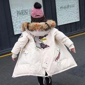 女童棉衣日韓洋氣棉襖外套中大童中長款羽絨棉服兒童冬裝 優樂居