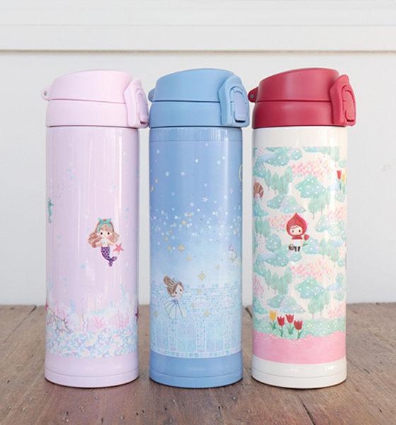 迪士尼公主 童話保溫瓶 第二代 灰姑娘 愛麗絲 小美人魚 小紅帽 該該貝比日本精品 ☆