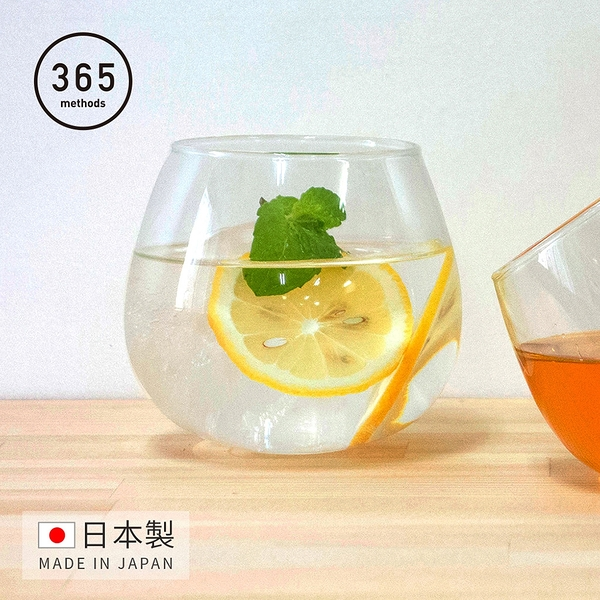 【日本365methods】日製晚酌微醺搖曳玻璃杯-495ml (不倒翁杯)(醒酒杯 日本製 威士忌 雞尾酒)
