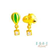 甜蜜約定2SWEET 熱氣球Snoopy黃金耳環