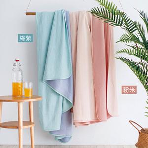 HOLA 冰玉竹纖維涼感毯 雙人 綠紫
