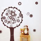 ☆阿布屋壁貼☆普普圈圈樹-A  -M尺寸  壁貼