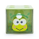 小禮堂 大眼蛙 方形單抽收納盒 透明抽屜盒 堆疊收納盒 積木盒 飾品盒 (綠 果凍文具) 4550337-61303