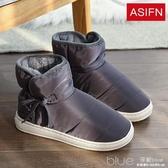 男士棉拖鞋新款包跟居家室內防滑保暖加絨厚底家用棉鞋男冬天 深藏blue