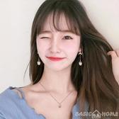 耳環氣質顯臉瘦貓眼石耳環2020新款潮韓國耳飾長款無耳洞耳墜耳釘耳夾 新年禮物
