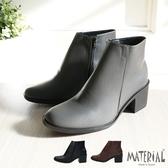 短靴 方頭簡約素面短靴 MA女鞋 T9389