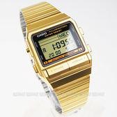 【時間玩家】CASIO 街頭潮流必備配件 DATABANK系列錶款◆電子錶  (金色離子IP處理) DB-380G-1DF