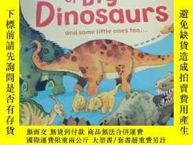 二手書博民逛書店The罕見Usborne Big book of Big Dinosaurs and some little on