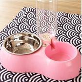 狗碗雙碗貓碗寵物食盆不銹鋼自動飲水器貓盆狗糧盆餵食器寵物 Igo 貝芙莉