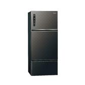 Panasonic 國際牌 三門無邊框鋼板ECONAVI冰箱 NR-C489TV 星空黑 481公升