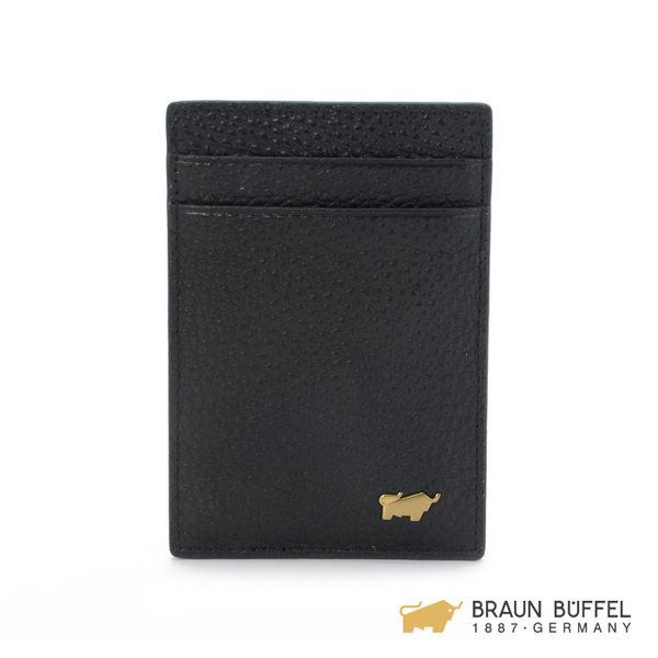 【BRAUN BUFFEL】LEONS萊昂系列3卡名片夾 -黑色 BF199-341-BK