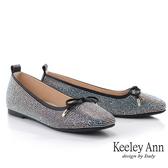 Keeley Ann我的日常生活 耀眼滿鑽方頭內增高包鞋(黑色) -Ann系列