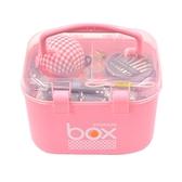 家用針線盒套裝縫紉機線小線捲大號手縫針線十字繡工具收納盒