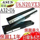 ASUS 電池-華碩 電池- N20,N20A,A32-U6,90-NFD2B1000T, 90-NFD2B2000T,A33-U6,90-ND81B3000T,黑