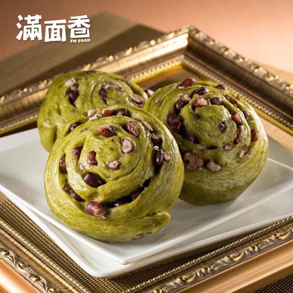 【滿面香】翠綠茶香-抹茶饅頭(4入/包)_手工老麵饅頭
