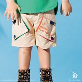 立體雙口袋 鬆緊短褲 01B202-20米卡 (90-140cm)