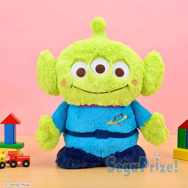 日本SEGA PLAZA 景品 玩具總動員 害羞三眼怪 長絨毛娃娃_SE30065