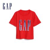 Gap 女童 Logo圓領短袖T恤 577861-正紅
