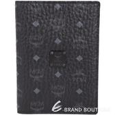 MCM Nomad 經典品牌圖騰牛皮護照夾(黑色) 1640150-01