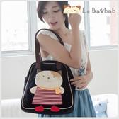 側背包~Le Baobab日系貓咪包 啵啵貓洋裝側背包/肩背包/手提包/拼布包包