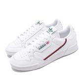 adidas 休閒鞋 Continental 80 白 綠 紅 男鞋 女鞋 皮革 基本款 經典復刻 運動鞋【PUMP306】 EG4592