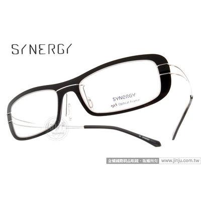 SYNERGY 光學眼鏡 SY3611 C013 (黑) NXT 防彈材質 極簡結構 平光鏡框 # 金橘眼鏡