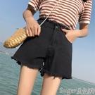 牛仔短褲 牛仔超短褲女2021夏季新款韓版高腰顯瘦學生外穿寬鬆破洞熱褲子潮  【618 大促】