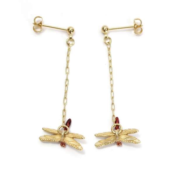 〔APM飾品〕日本Palnart poc 農村光景秋雨蜻蜓耳環