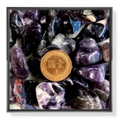 【Ruby工作坊】NO.1NPU超大顆天然深紫水晶500G碎石(加持祈福)【紅磨坊】