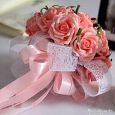 手捧花假花絹花裝飾花韓式結婚婚禮新娘伴娘手捧 送胸花腕花 晴天時尚館