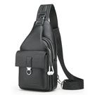 商務肩背包 韓版男士胸包 USB充電胸前斜挎包男 時尚胸包斜挎包 男生胸前包包 多功能休閒包包