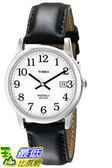 [105美國直購] Timex Easy 手錶 Reader Date Mid-Size Leather Strap Watch