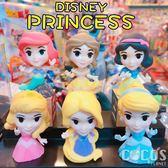 正版 迪士尼 公主搖搖頭系列 扭蛋 療癒公仔擺飾 全套6款 COCOS TU002