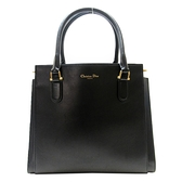Dior 迪奧 21st 黑色小羊皮手提肩背兩用包 Shopping Tote Bag【二手名牌 BRAND OFF】