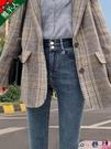 熱賣窄管褲 高腰牛仔褲女褲子夏季薄款2021年新款緊身顯瘦修身彈力九分小腳褲 coco