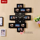 藝術創意掛鐘家用裝飾個性掛表現代牆鐘客廳臥室靜音相框時鐘表WY 「名創家居生活館」
