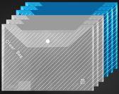【618好康又一發】真彩文件袋透明A4塑料資料檔案袋