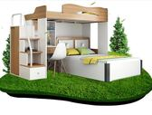 高架床雙層床上下床高低床多功能高架床成人兒童書桌衣櫃組合子母床家具DF 全館免運