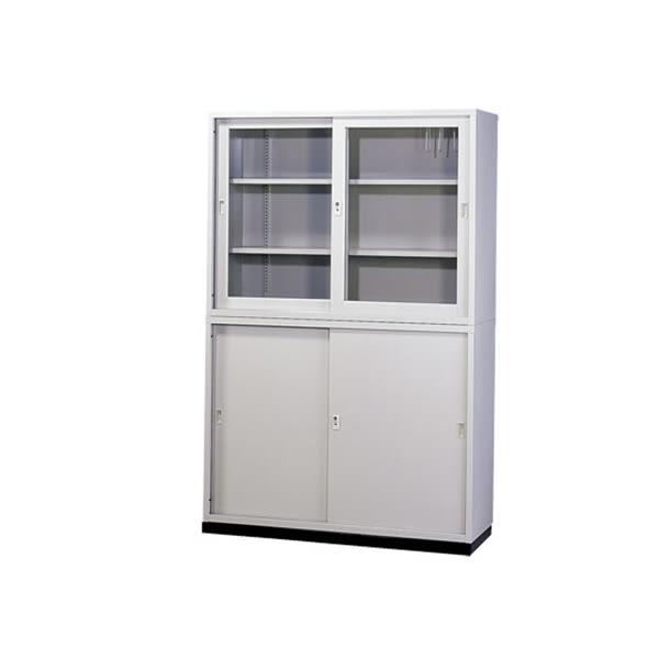 【YUDA】A級4*6上玻下鐵拉門(不含腳座) 鐵櫃 文件櫃/展示櫃/公文櫃