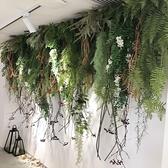 仿真綠植壁掛吊蘭花垂吊綠色植物蕨類牆壁管道吊頂裝飾蕨葉藤條 初色家居館
