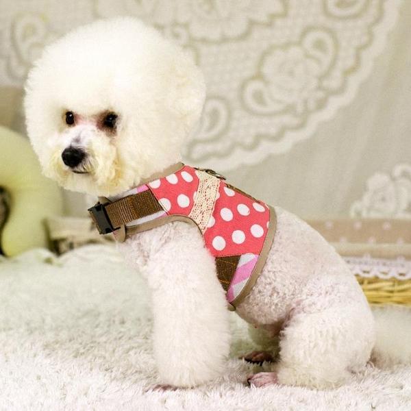 中型小型犬背心式牽引繩狗繩泰迪狗錬子遛狗繩寵物胸背帶狗狗用品 露露日記