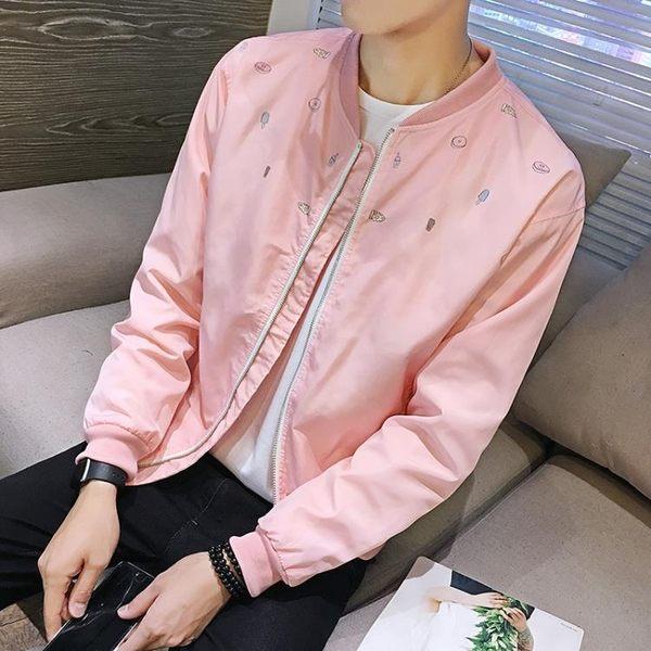 飛行夾克 男士外套   韓版修身型 青少年薄