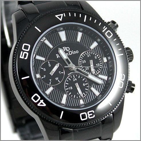 【萬年鐘錶】 Roven Dino 羅梵迪諾 楊丞琳代言 全黑男錶  RD615B