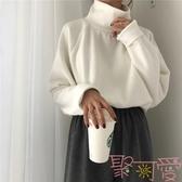 高領加厚長袖針織衫百搭寬松套頭打底衫女毛衣