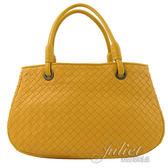 茱麗葉精品【全新現貨】BOTTEGA VENETA 148323 經典編織羊皮手提三層包.橙橘