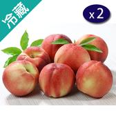 美國加州水蜜桃2.2KG/箱X2【愛買冷藏】