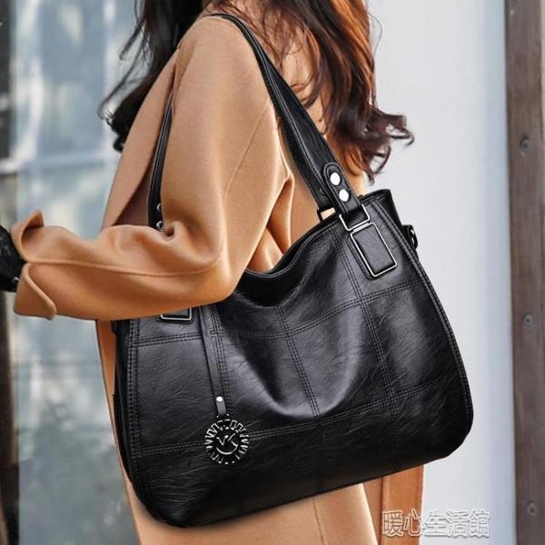 側背包單肩包包女大氣手提包包女大包真皮女包軟皮大容量托特包 快速出貨