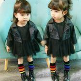 女童襪子純棉足球襪女寶寶公主中筒襪韓國兒童長款過膝堆堆襪潮  易貨居