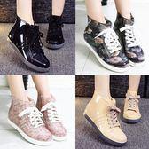 春夏季韓國雨鞋女短筒學生低幫平底雨靴成人防滑防水鞋保暖雨膠鞋