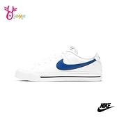 NIKE板鞋 男鞋 COURT LEGACY 休閒鞋 運動鞋 皮革 簡約復古 穿搭鞋 Q7110#白藍◆OSOME奧森鞋業